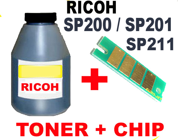 ΣΥΜΒΑΤΟ Toner Bottles + CHIP RICOH SP200 /201 / SP211 (407254)