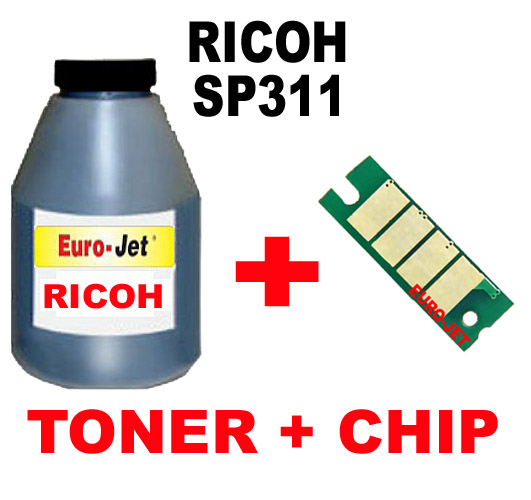 ΣΥΜΒΑΤΟ Toner Bottles + CHIP RICOH SP311, SP310, SP320, (407246)
